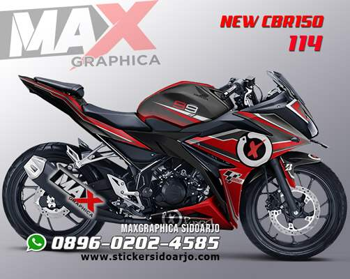 sticker decal CBR150R facelift maxgraphica